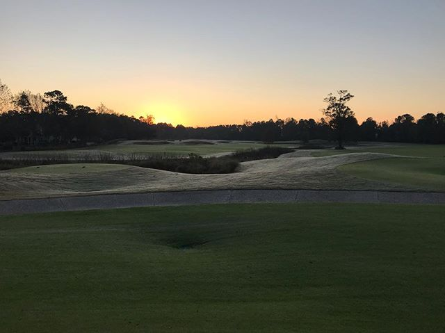 Sunrise over the final round of the @nccga National Championship @barefoot_resort in #MyrtleBeach #RoadToMyrtle #ClubGolf