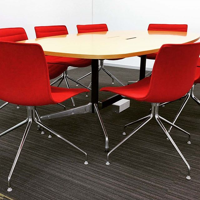 Sleek and efficient Catifa boardroom chairs.  Chairs and boardroom table all 100% recycled
