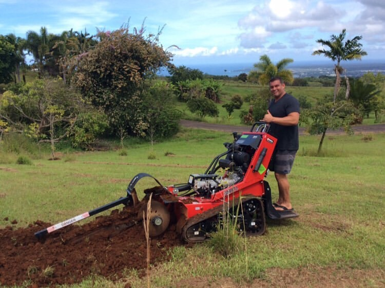 Dr. Matt breaking ground on the first Blu Gro System in Hilo, HI!