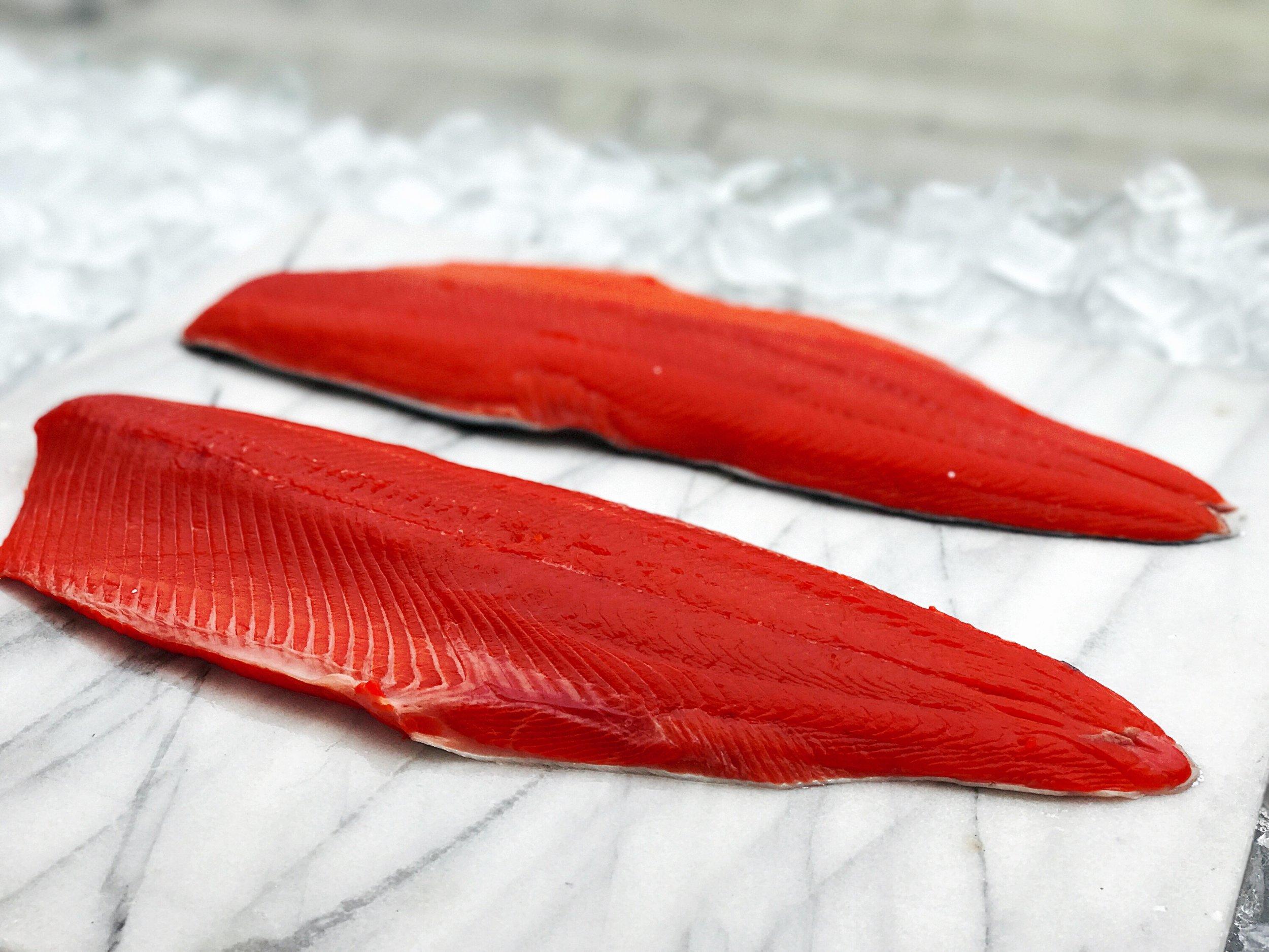 wild sockeye salmon - $16.95/lb