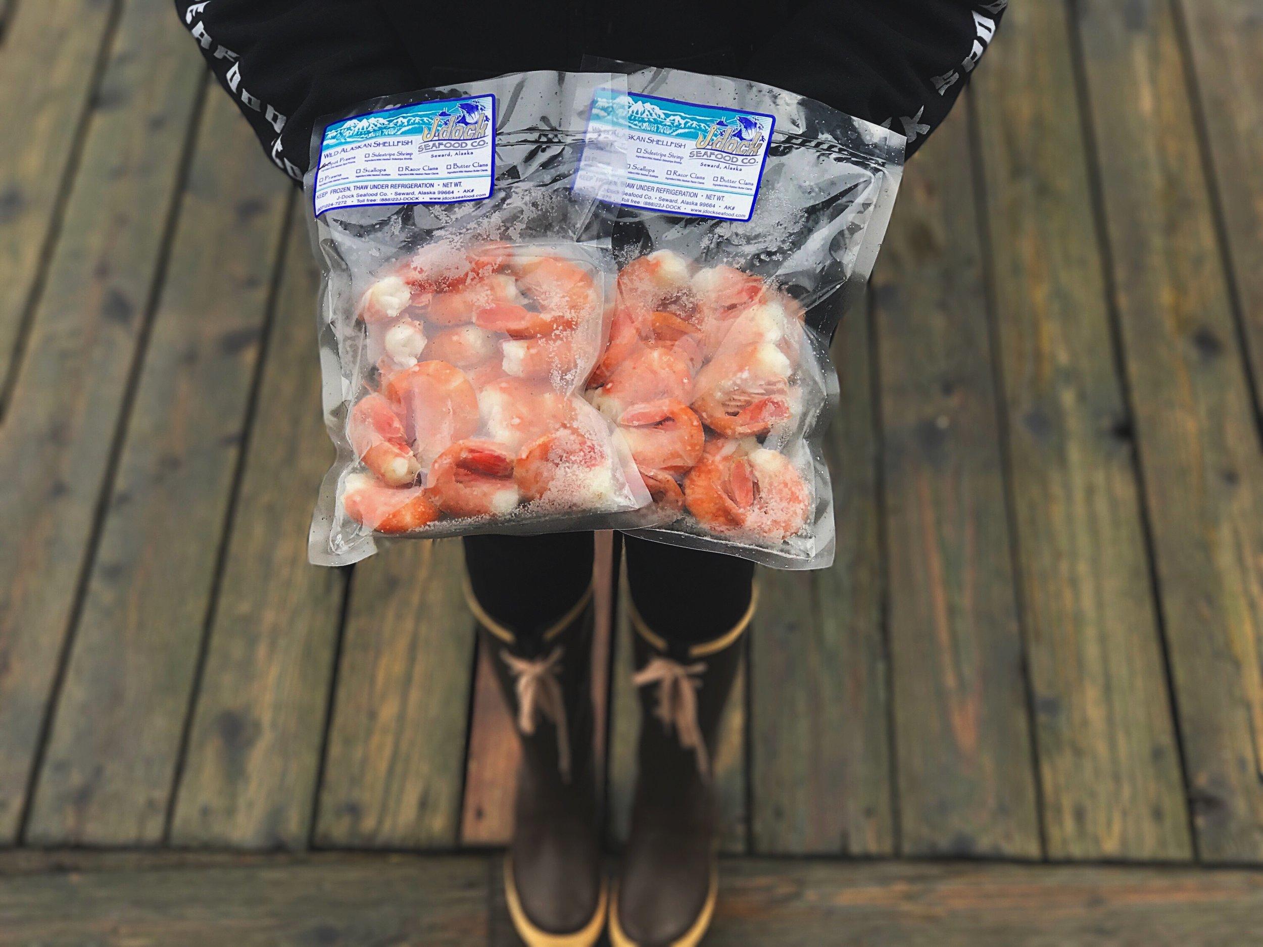 jumbo spot prawns - $29.95/lb