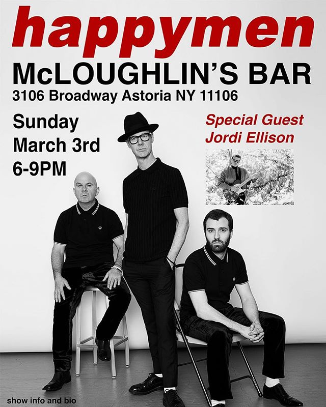 We're back!! Sunday March 3rd at McLoughlin's Bar in Astoria. 6-9pm Sunday Sessions.