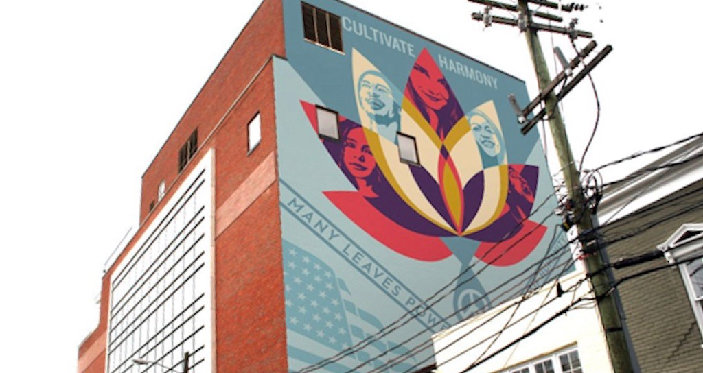 Shepard Fairey's proposed design for Charlottesville, Va.