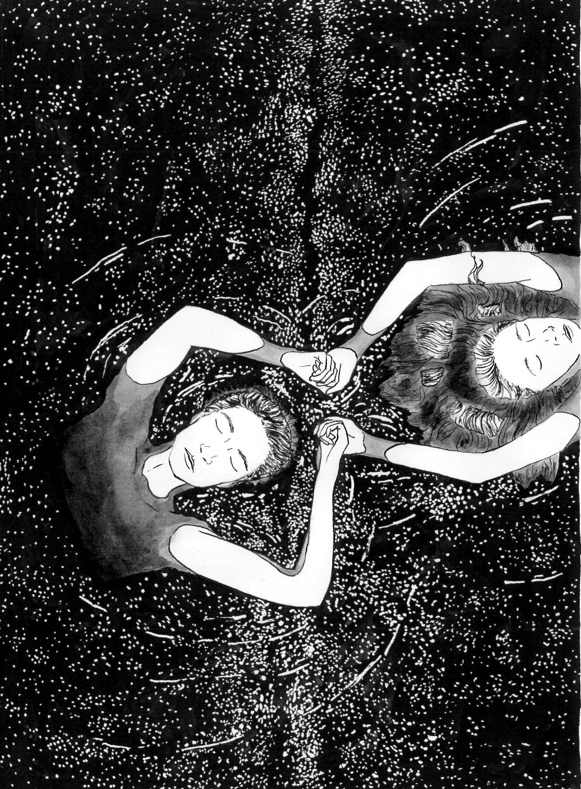 A 2015 ink drawing I made called  Adrift: Together