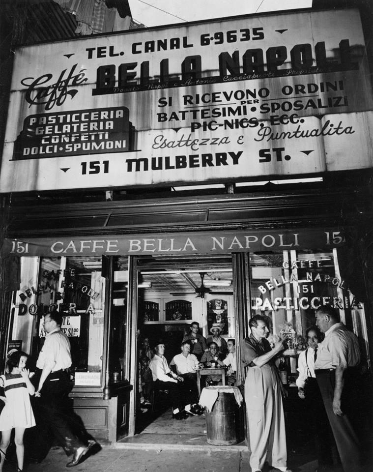 Bella Napoli in Little Italy (taken from a great Facebook feed called 'Mulberry Street 1900s), from this  website
