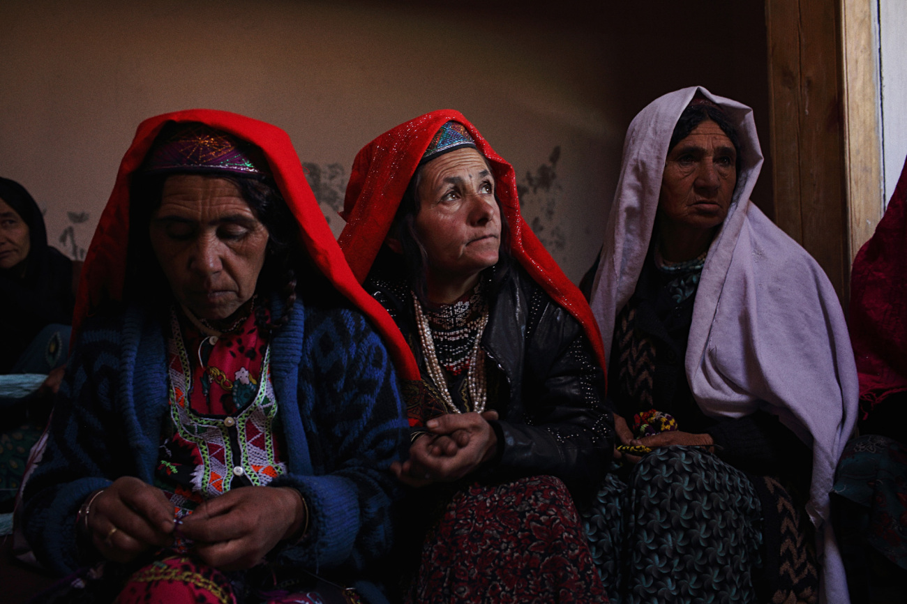 """""""At a women's business center in the village of Khandood, locals knit and make jewellery to sell in the village and to passing tourists."""" from  Roads and Kingdoms"""