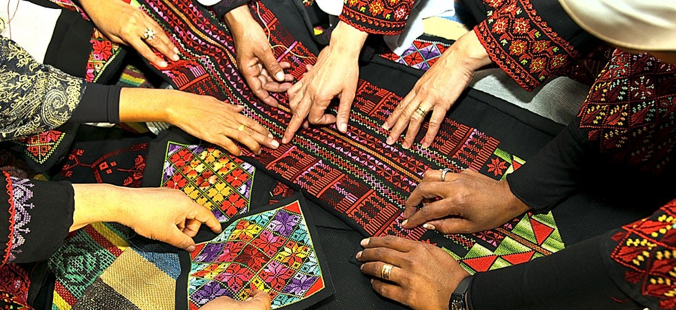 Many hands at Desert Embroidery. from  here