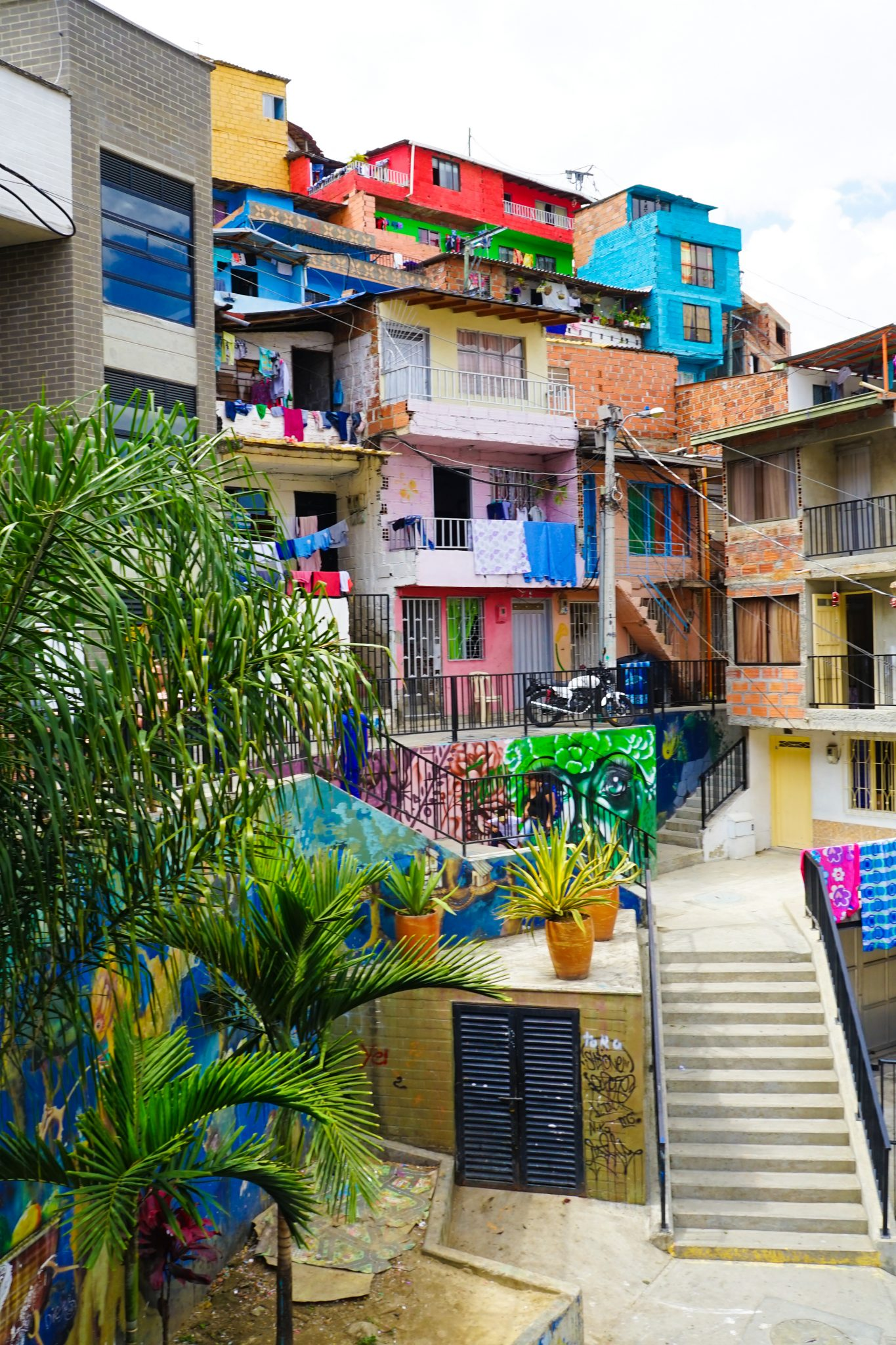 Street art in Comuna 13, from the  Inspired by Maps website
