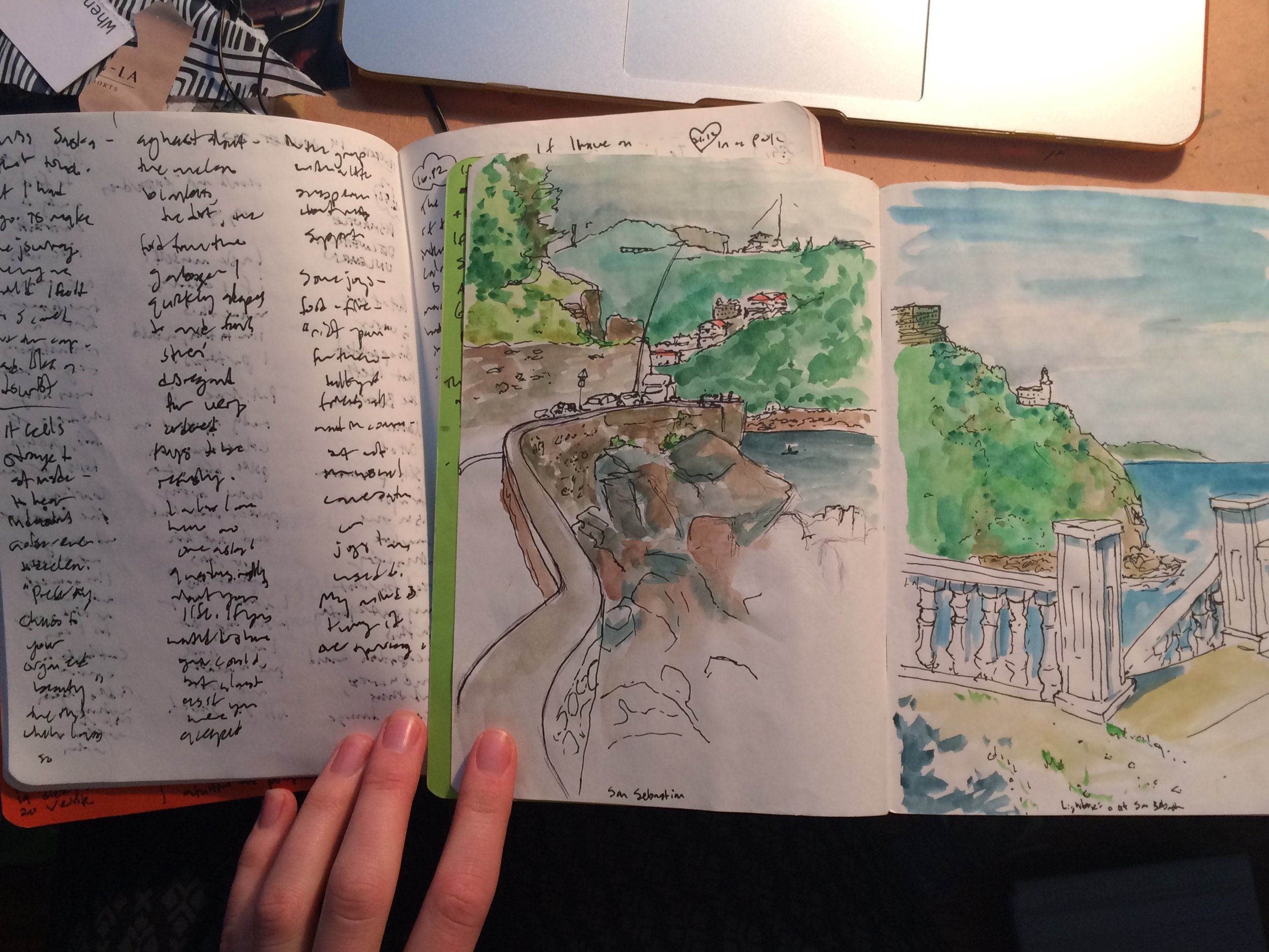 Scribbly and sketchy: journal and sketchbook from my Camino de Santiago trip this past summer.