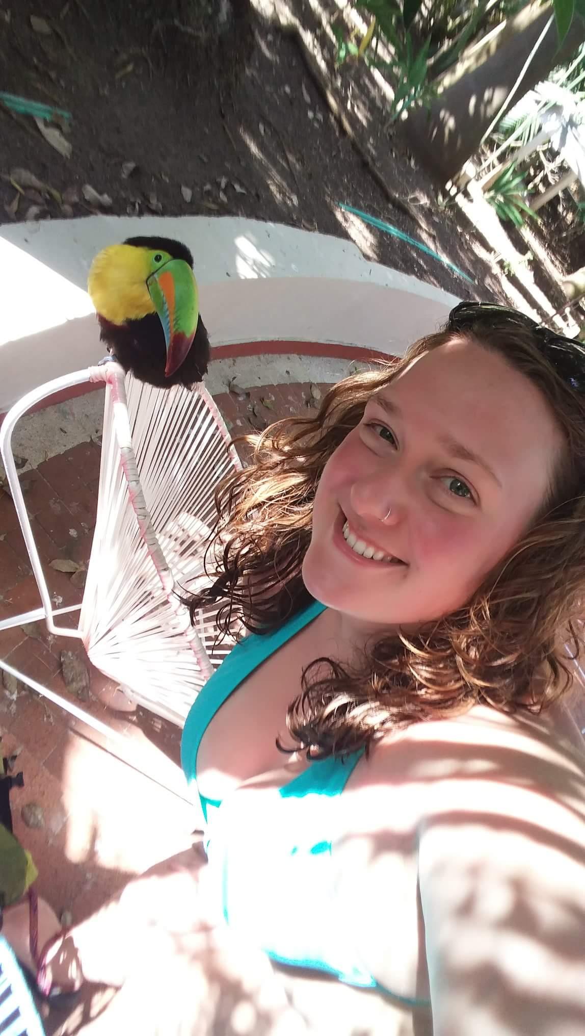 Katie living her best life in Colombia