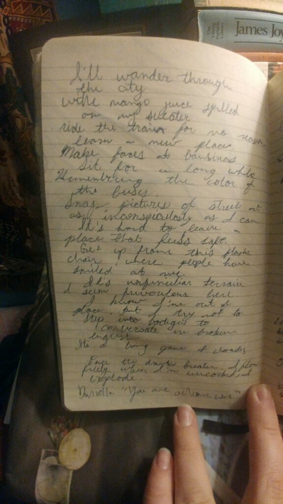 Pages of reflection from Katie in Colombia.
