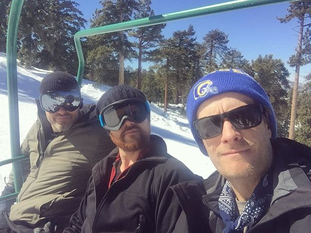 Great day on the mountain with @andydavismusic and @ran_jackson !! . . . #sircanyon #snowsummit #bigbearlake