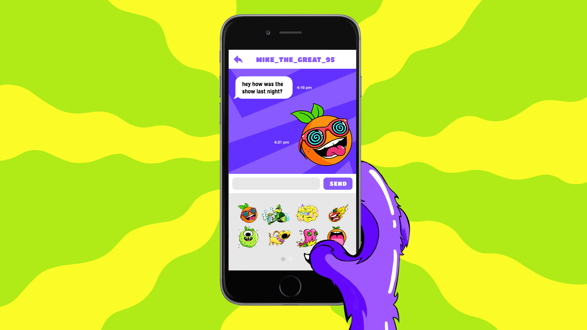 Sticker pack for messaging platforms