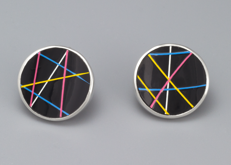 Plastic Button Cufflinks