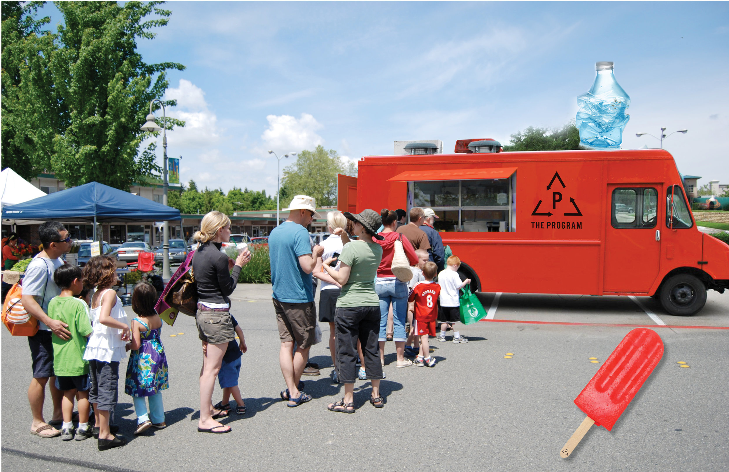 Children will be rewarded with an ice pop for recycling their garbage.