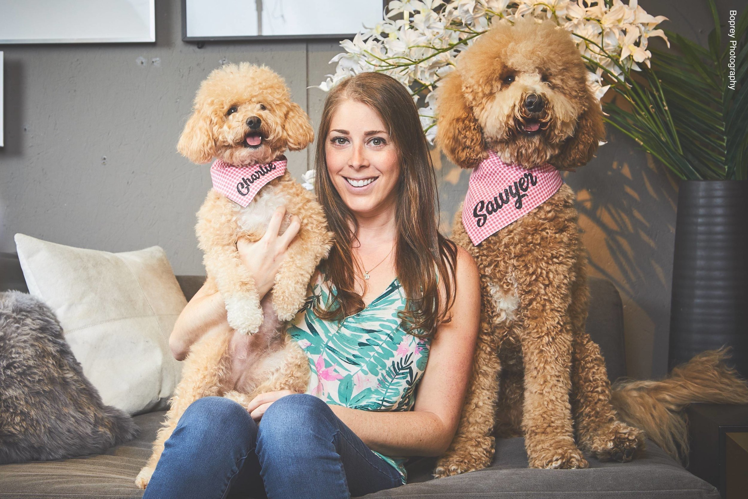 Paige with her girls Charlie and Sawyer, at CB2. Credit: Boprey Photography
