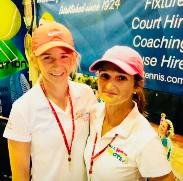 Mackay Tennis coaches Tina and Suzanne