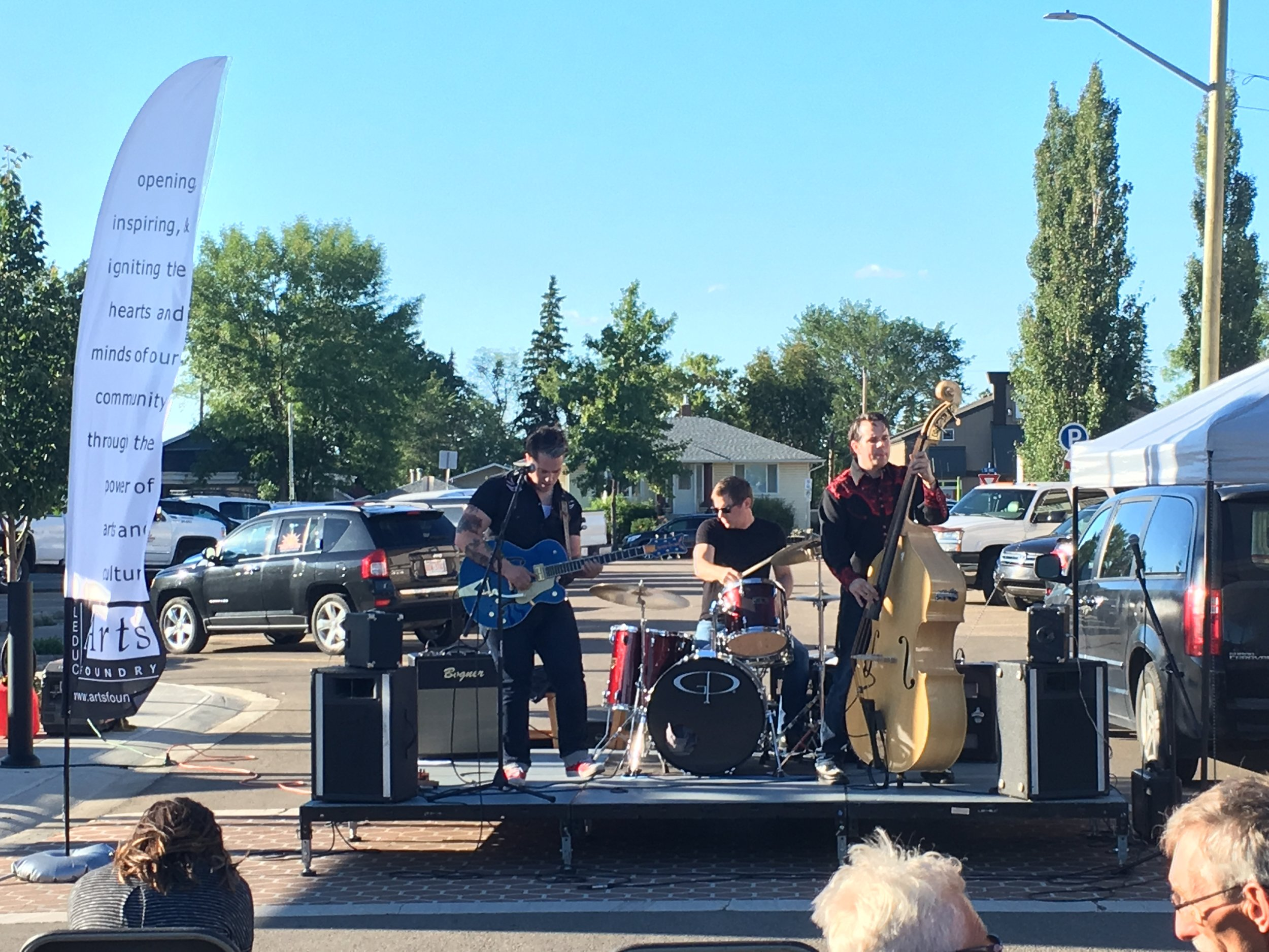 The Confusionaires at the 2018 Leduc Art Walk