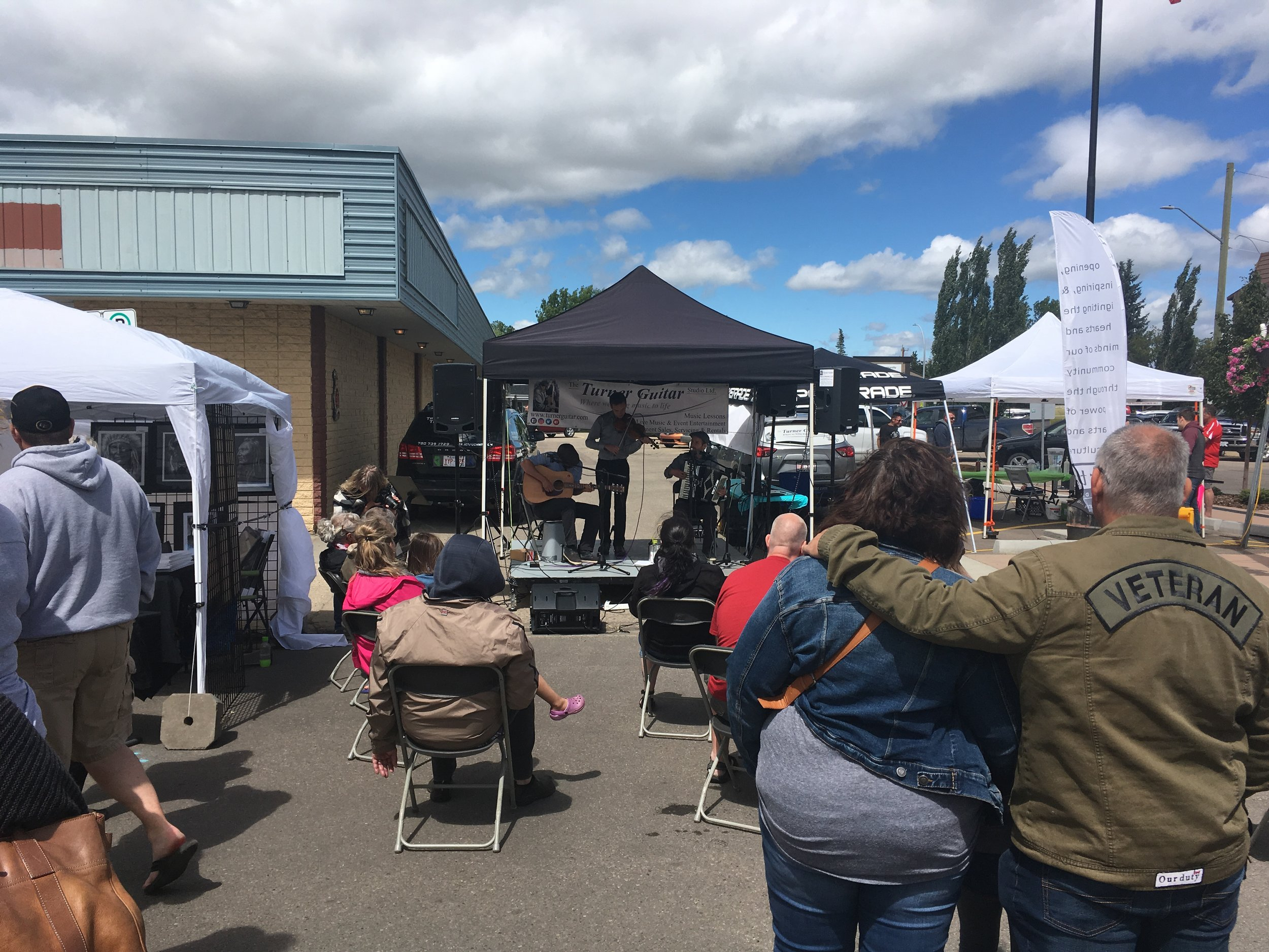 The Borch Brothers at the 2018 Leduc Art Walk