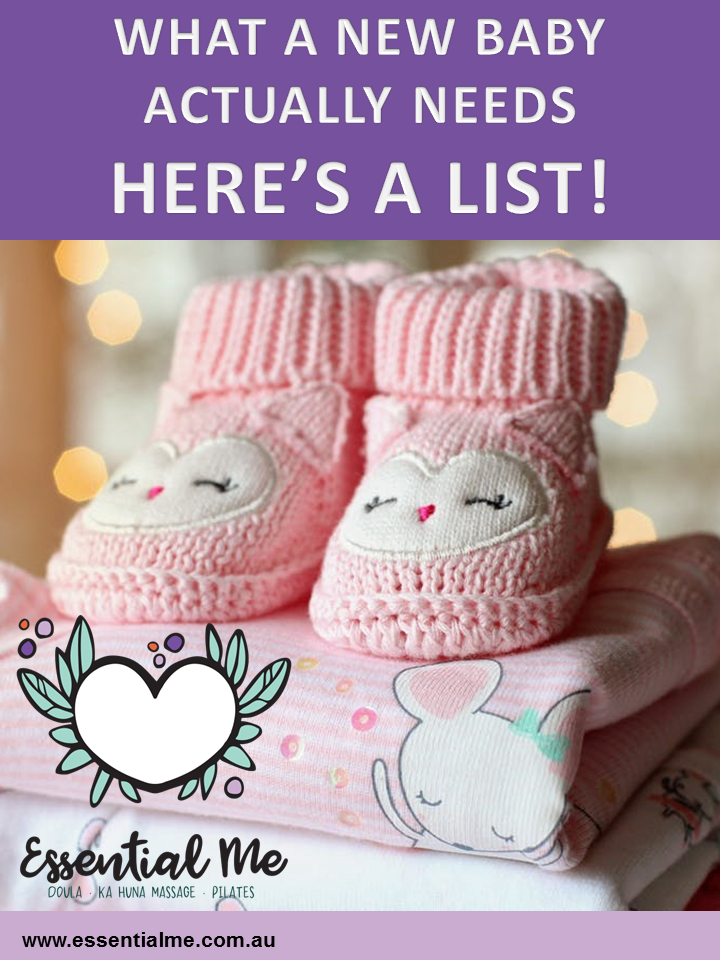 Now you have a new baby,what do you actually need? See here for more info: https://www.essentialme.com.au/blog/2018/02/26/new-baby-list