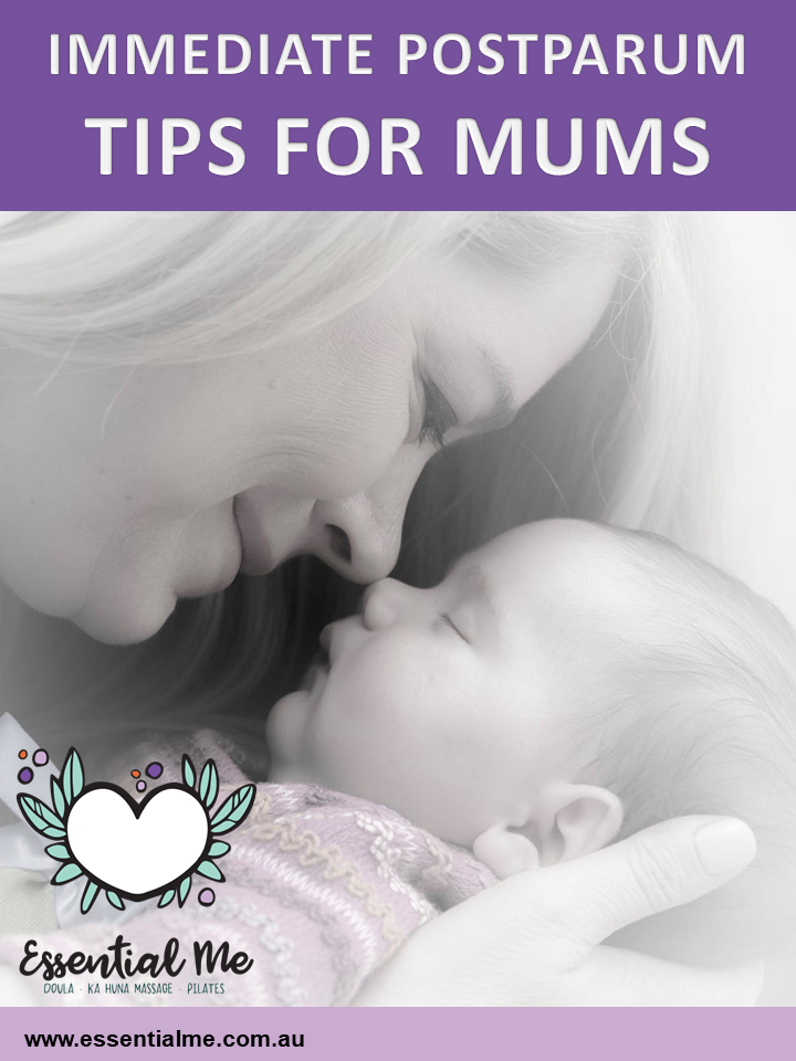 Immediate Postpartum Care for New Mums with Newborn baby babies suggestions and tips birth aftercare for her what is a doula
