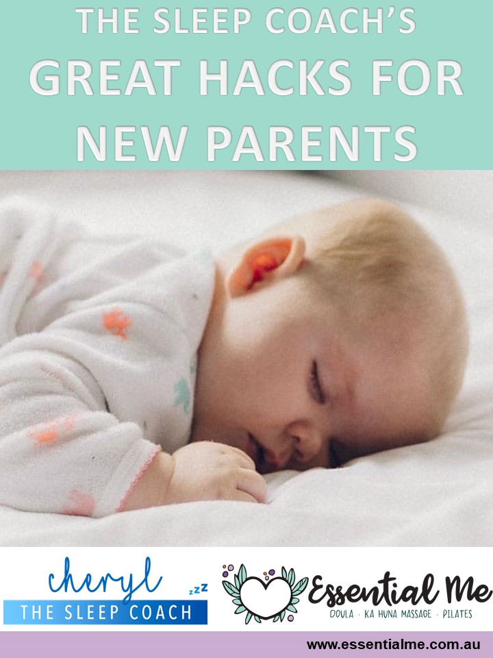 sleeping tips and hacks for your new baby from cheryl the sleep coach in Sydney Doula Australia, birth postpartum services, amanda is here for you from Bondi Junction