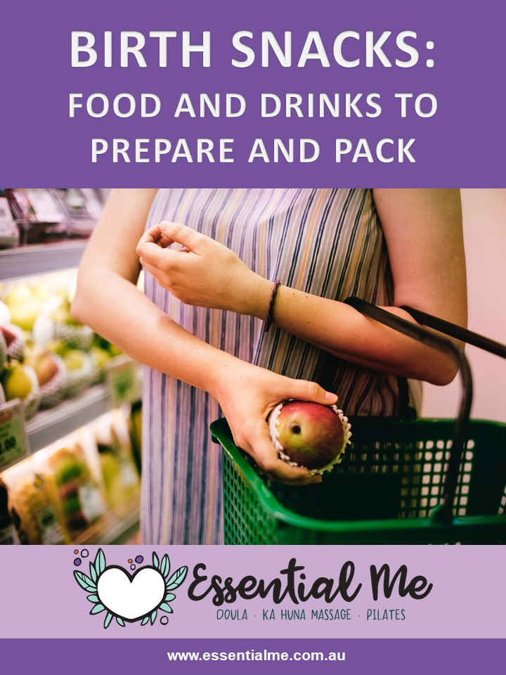 Food, drinks and snacks to take to your birth, hospital birth, home birth, waterbirth, vbac or any other kind of work. prepare and pack these suggestions from a sydney doula