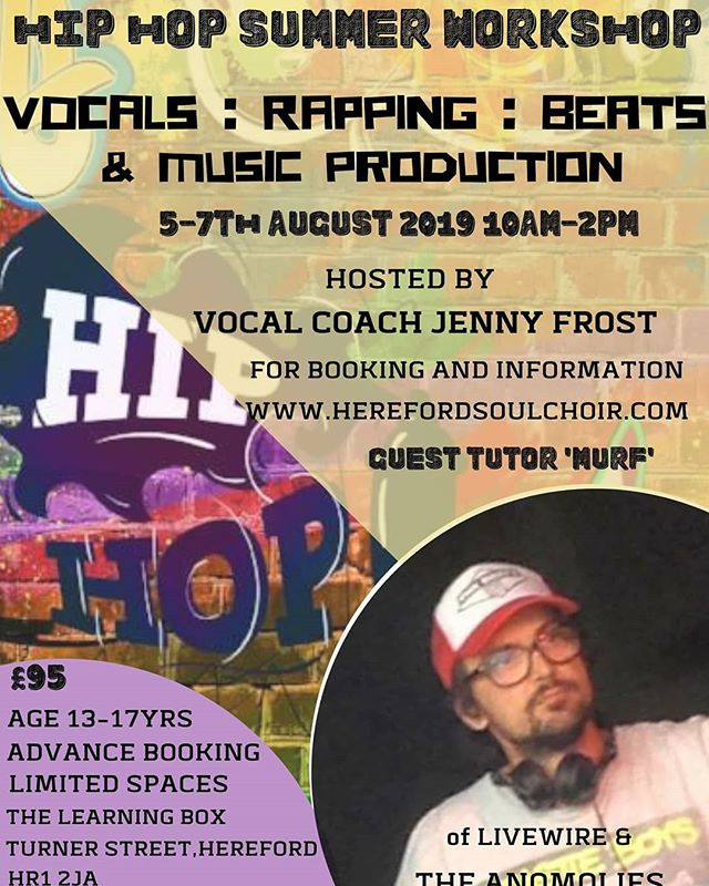 Calling all Hip Hop fans we've teamed up with the Awesome Murf to bring you a workshop with a different flavour. This is going to be epic and something you do not want to miss. Ages 13 to 17 yrs Only Spaces are limited