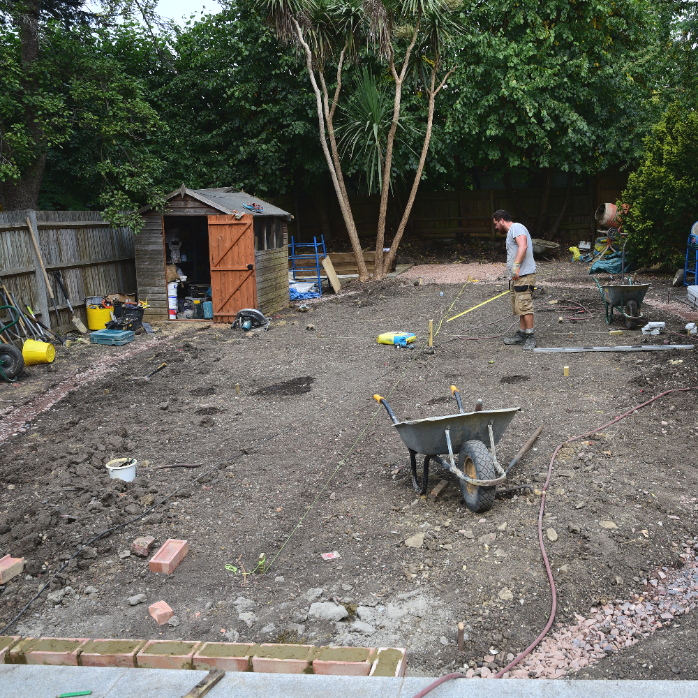 Wimbledon garden setting out Arthur Road Landscapes.jpg