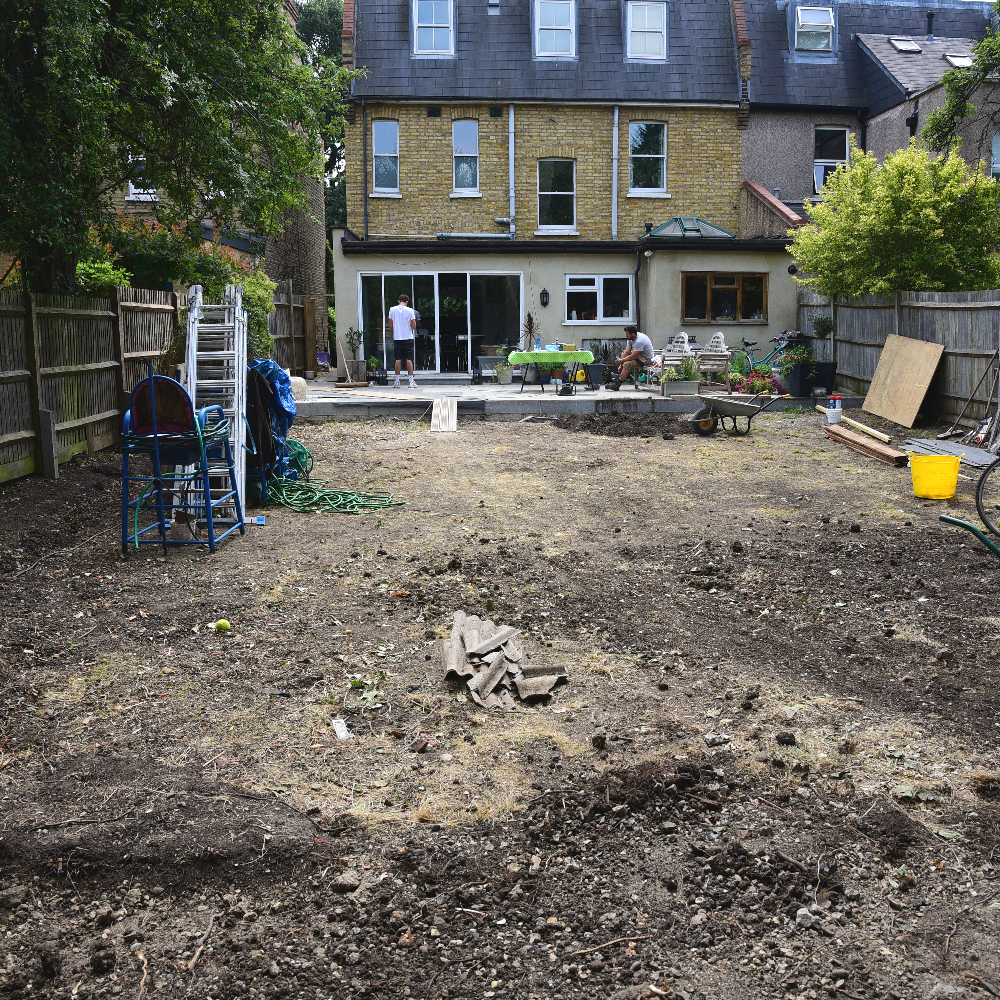 Wimbledon garden strip out Arthur Road Landscapes.jpg