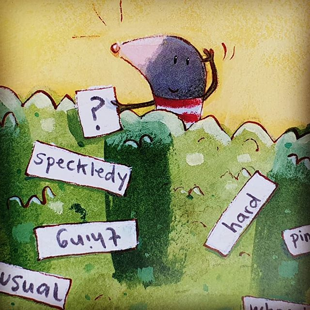 Learning through play: how a mole and a lumpy-bumpy thing are making literacy fun. My life in Books, Tims blog at timwarnes.com. Link in bio. #dangerous #timwarnes . #mole #crocodile #lumpybumpything #mylifeinbooks #literacy #libraries #readingforpleasure #kidlit #illustration