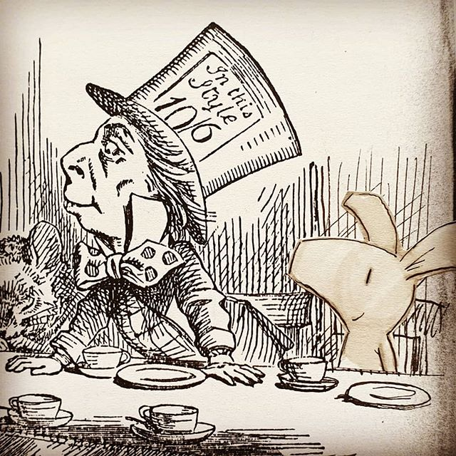 In 'My Life in Books' this week: how some childhood favourites from a certain tea-party ended up in my award winning book, THE BIG BOOK ADVENTURE. #mylifeinbooks #timwarnes . #alice #aliceinwonderland #madhatter #madhatterteaparty #marchhare #wonderland #wonderland_arts #tenniel #lewiscarroll #foxy #piggy #bigbookadventure  #woodengraving #illustration #classic #childrensclassics #kidlit