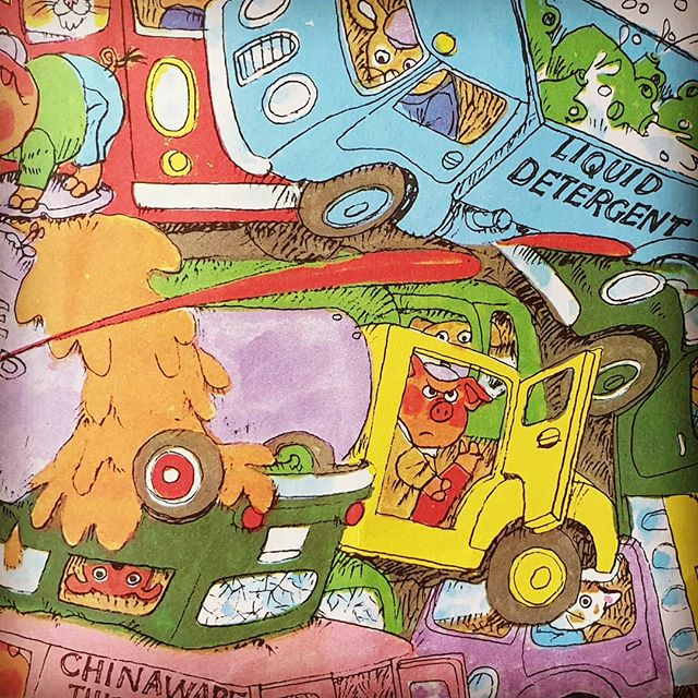 On my blog, 'My Life in Books' today: One uncle, one autistic nephew and lots of jokes! An encouraging example of using picture books to create meaningful connections and lasting memories: www.timwarnes.com Image © Richard Scarry Corporation. . #timwarnes #mylifeinbooks . #autismawareness #richardscarry #busytown  #illustration #picturebooks #readingforpleasure #goodtoread #autism #storyteller #chapmanandwarnes