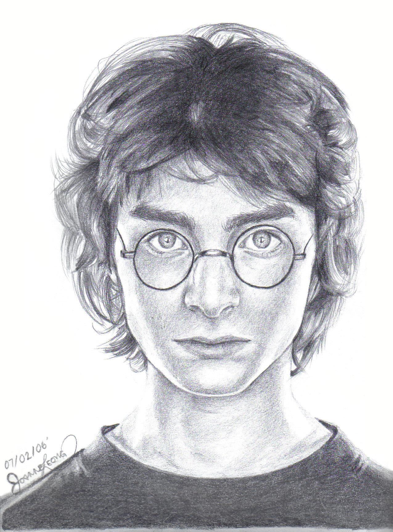 Portrait of Harry Potter. Pencil.