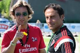 SIMONE BALDO   Simone Baldo avbildet til venstre jobber i AC Milan.  Han var juniortrener i 2016/2017 sesongen og året før det en av assistentene rundt A-laget til AC Milan. Han har mange år i ungdomsavdelingen og er en svært respektert og dyktig trener i klubben. I år har han hovedansvaret for 2004 laget. Vi er utrolig glade for å ha Simone i vårt Italent team.