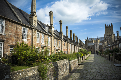 Where it all began:  Historic Vicars' Close in Wells is the oldest continuously inhabited street in Europe. St Andrews Press began life in Arthur Wood's house on this street.