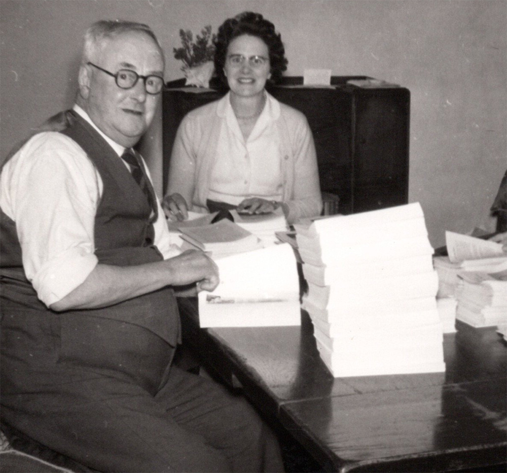 A Family Affair:  Arthur's father (L) and wife, Dulcie (R) helped out with the finishing in those early days in the house on Vicars' Close.