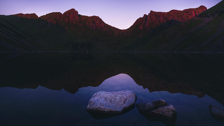 Lac Skrâdalsvatnet - Norvège - Lofoten - Unstad