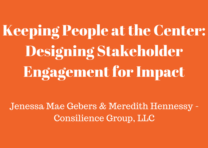Keeping People at the Center: Designing Stakeholder Engagement for Impact