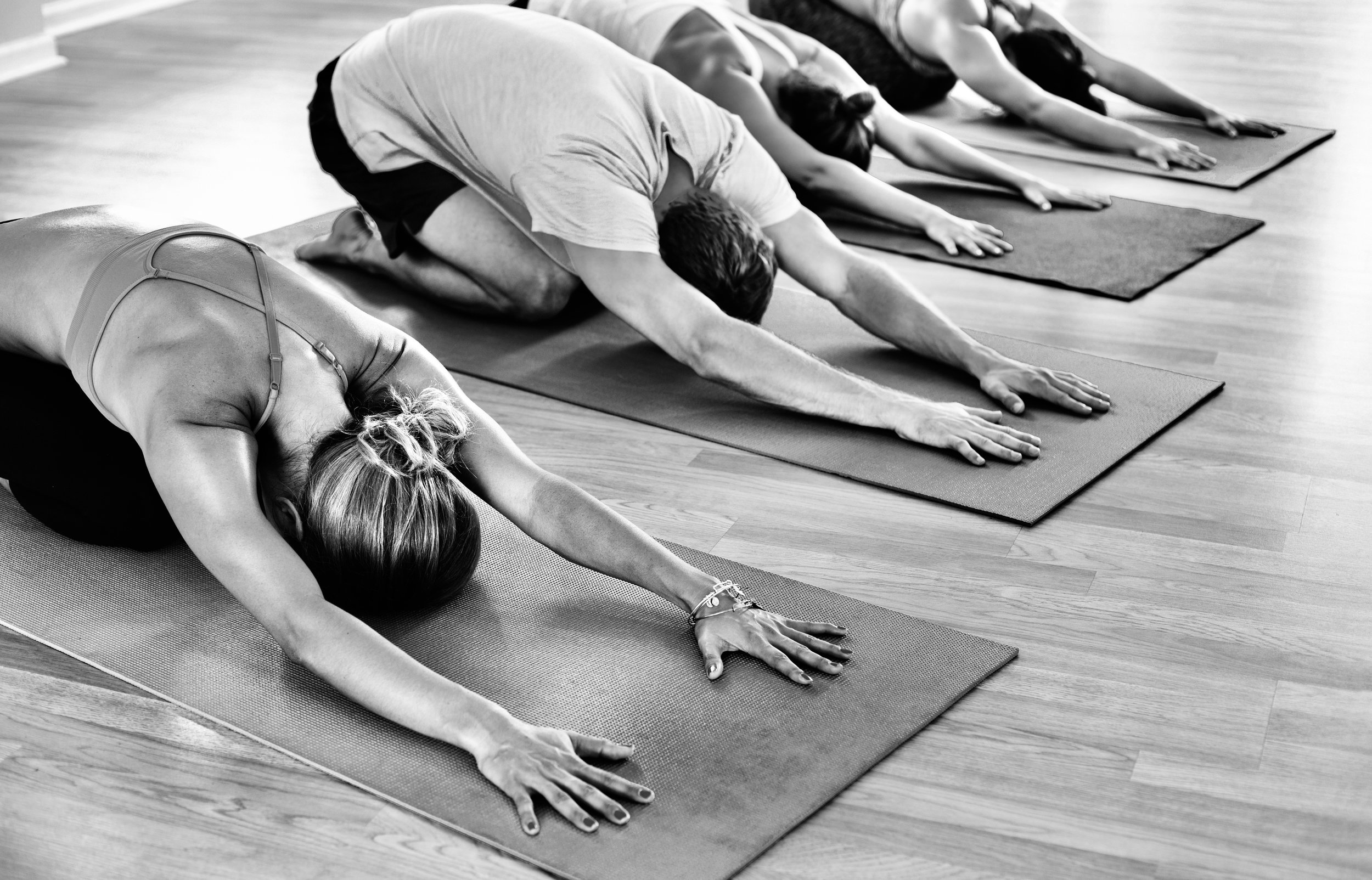 Yoga - Whether you're a beginner, ready to sweat or a new mom–you'll find yourself at home in our intimate 12 mat studio.