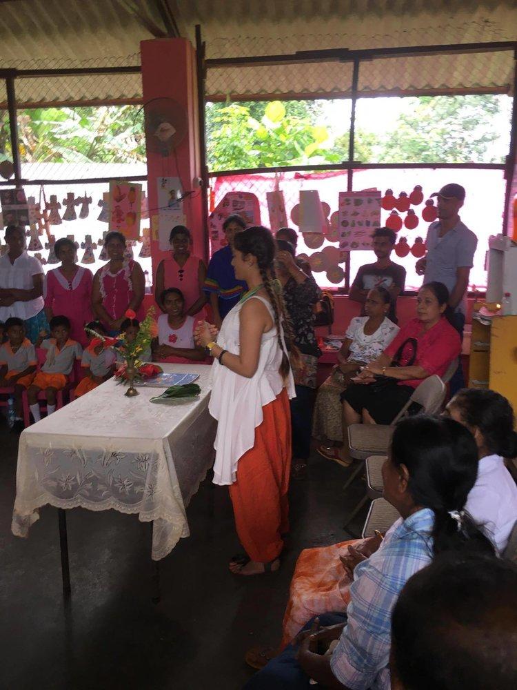 Julia Wijesinghe visit in 2017 (Lakruwana Foundation in Ratnaphura Sri Lanka)