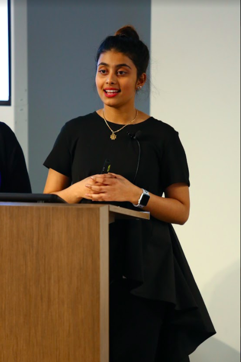 Julia Wijesinghe at an oral conference in New York . 2018
