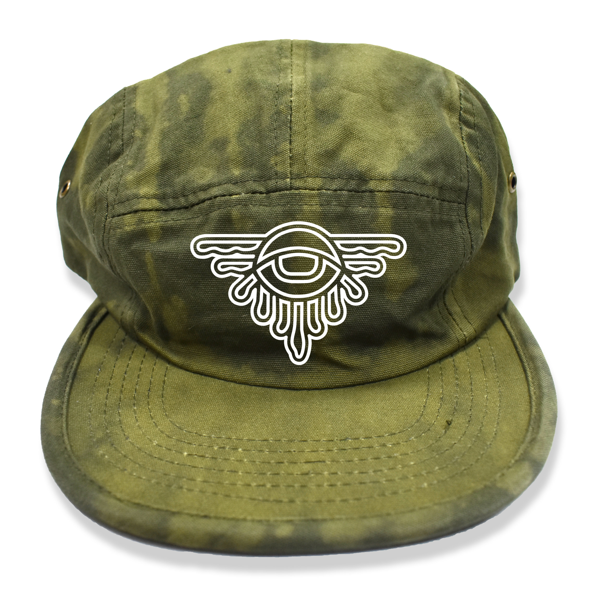 Rhialize-Dripped-Eye-Bleach-Olive-Green-5panel-Hat.jpg