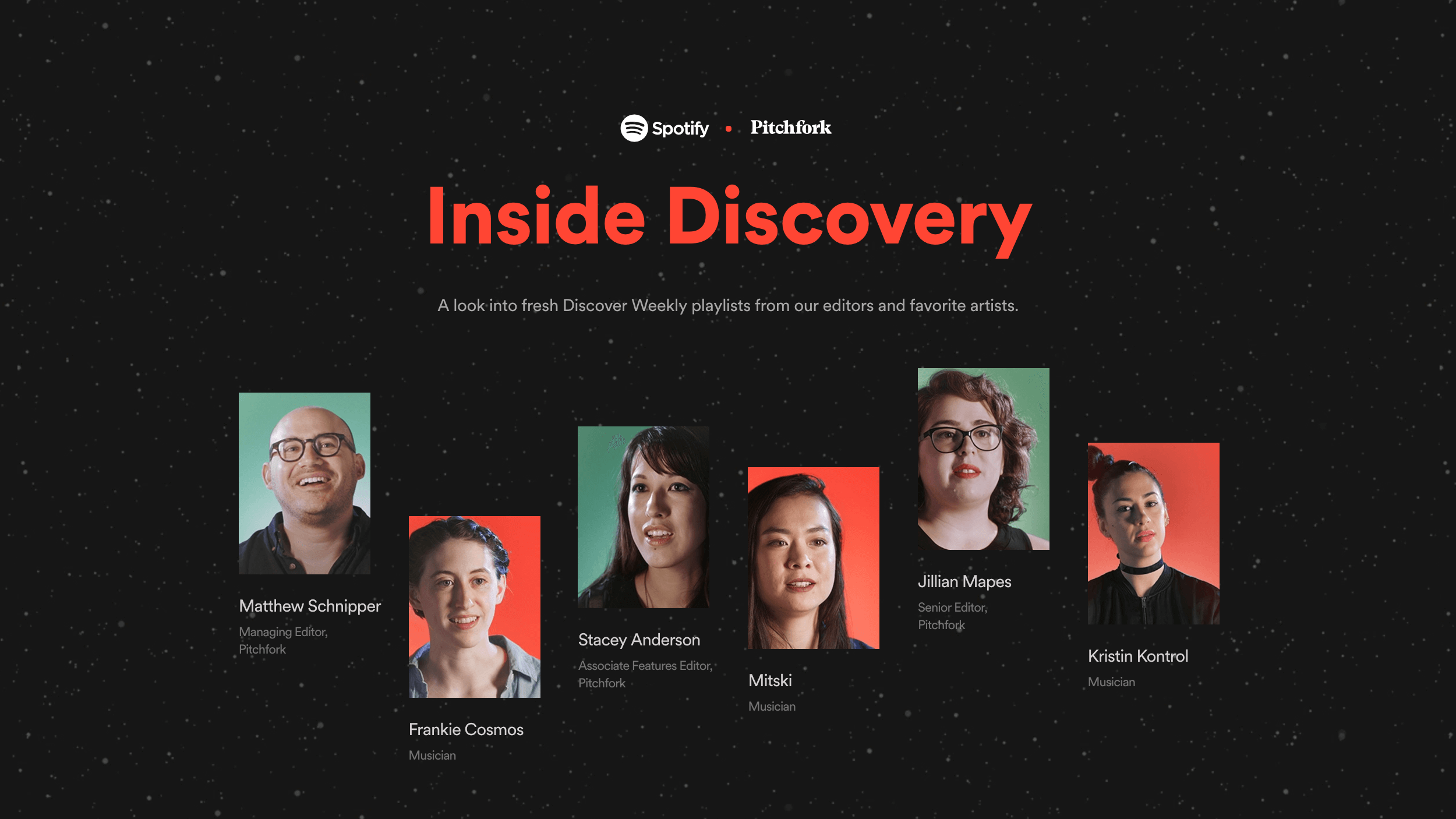 Spotify × Pitchfork — Inside Discovery — Ben Hughes