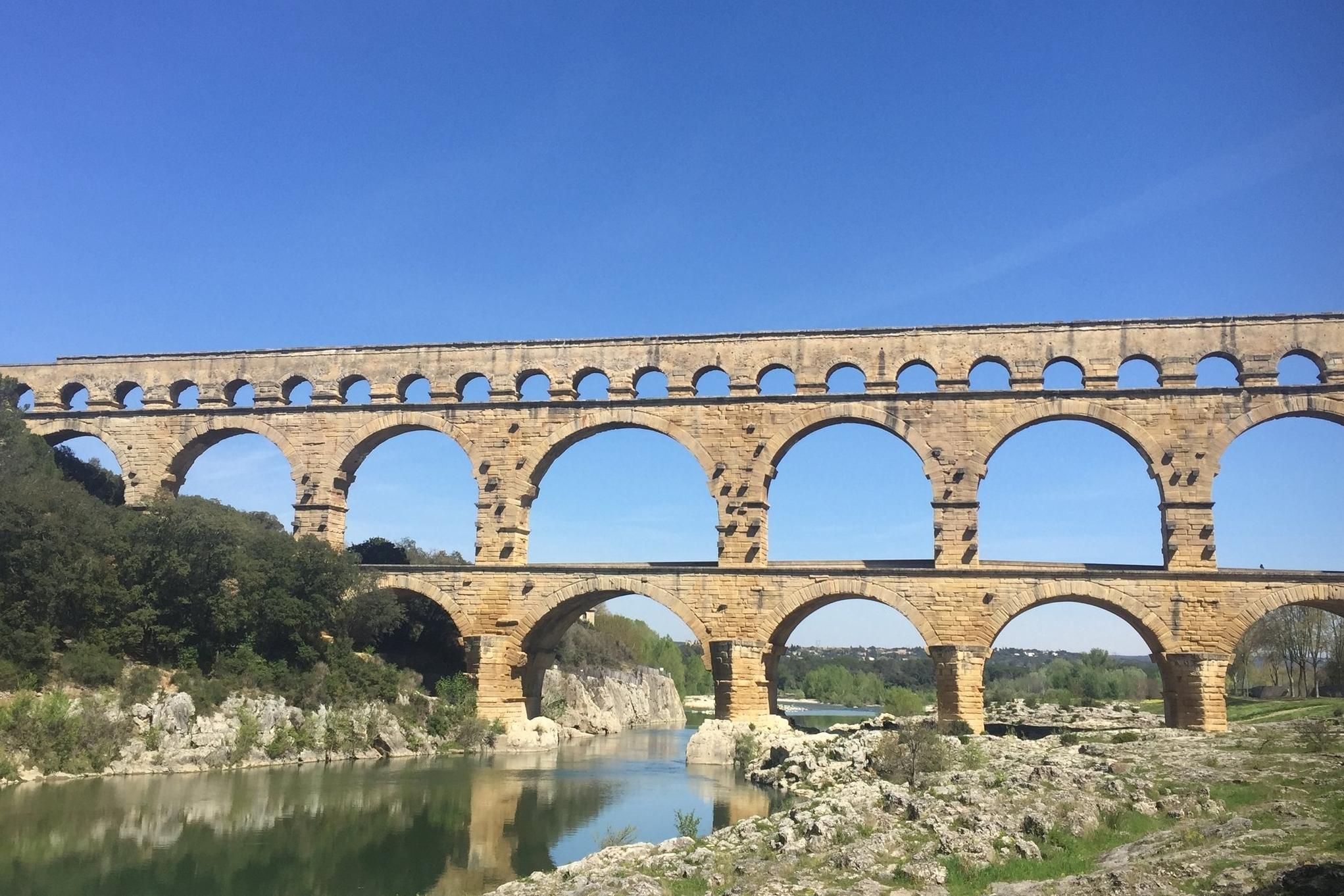 Le Pont du Gard, France. Photo by Allison Girard 2017.