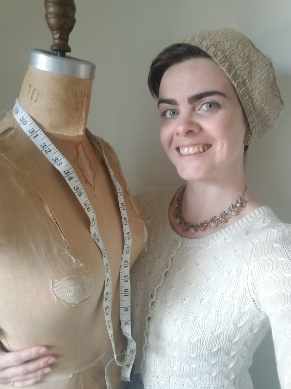 Nadia the Knitter + Lupe the Dressform