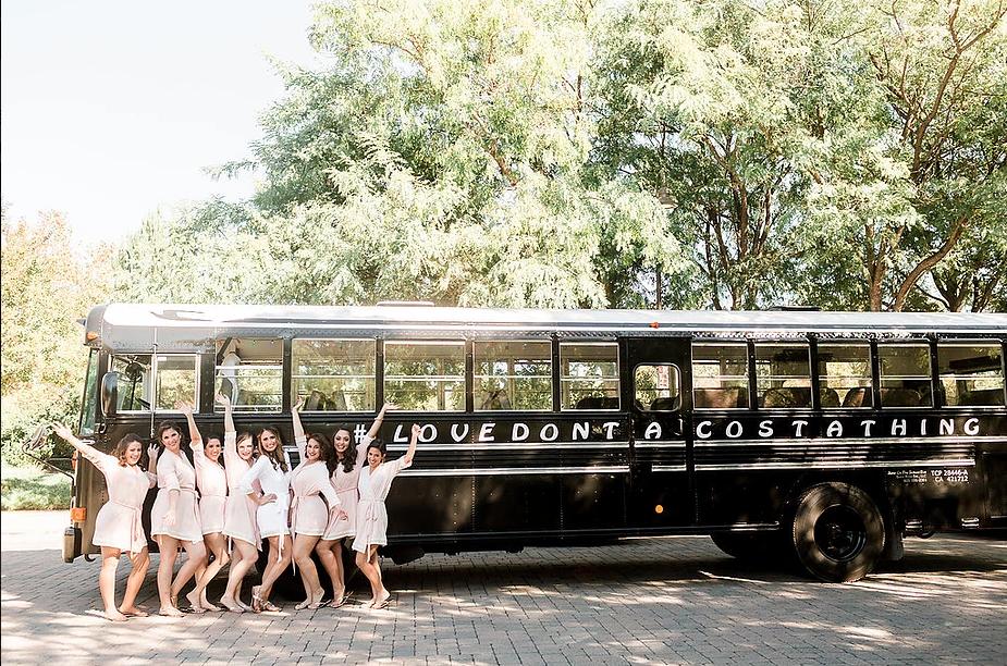 Wedding Transportation Jump On The School Bus