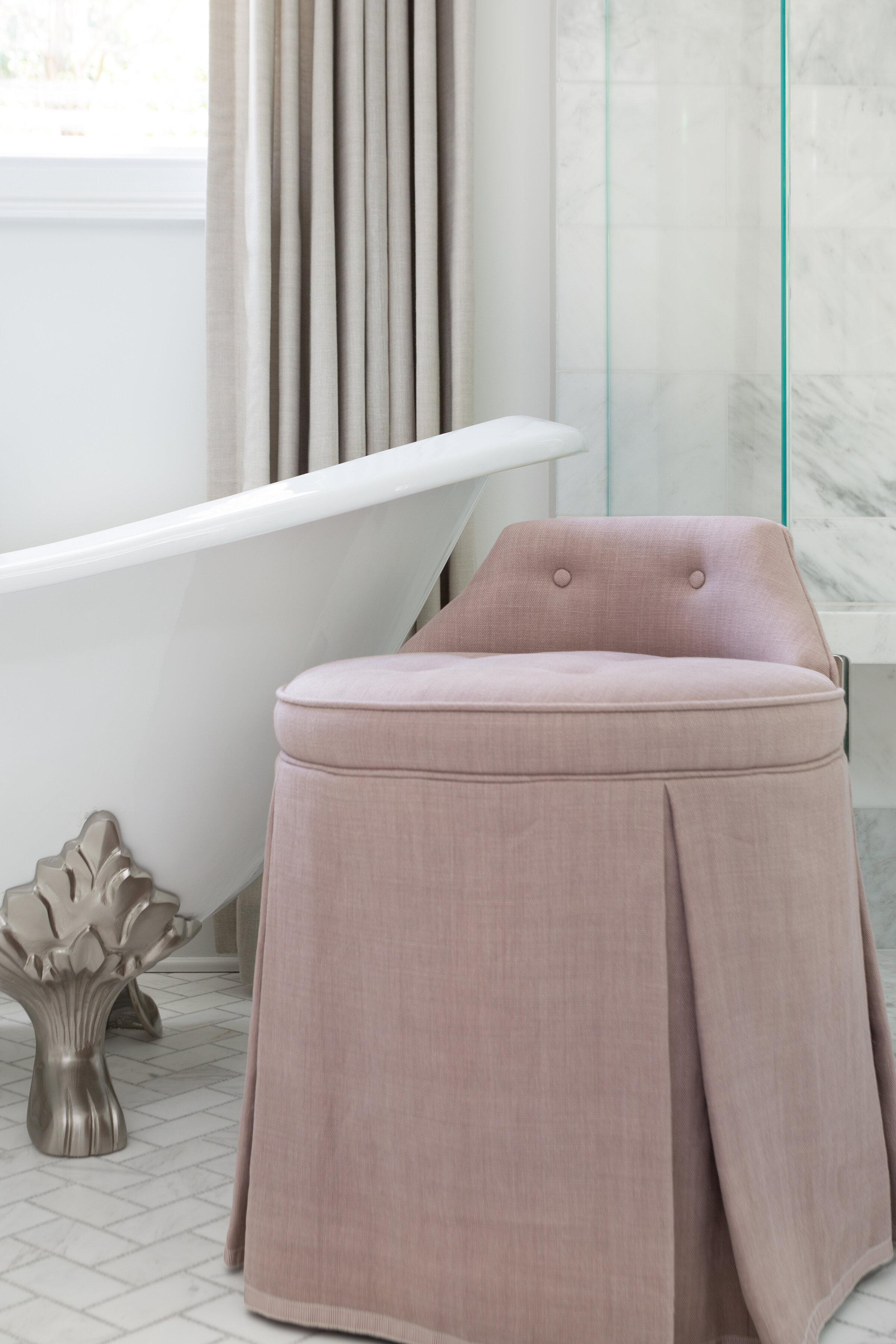 Contemporary French Country Master Bathroom Amanda Scott Designs