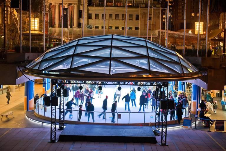Ice Skating @ Robson Square