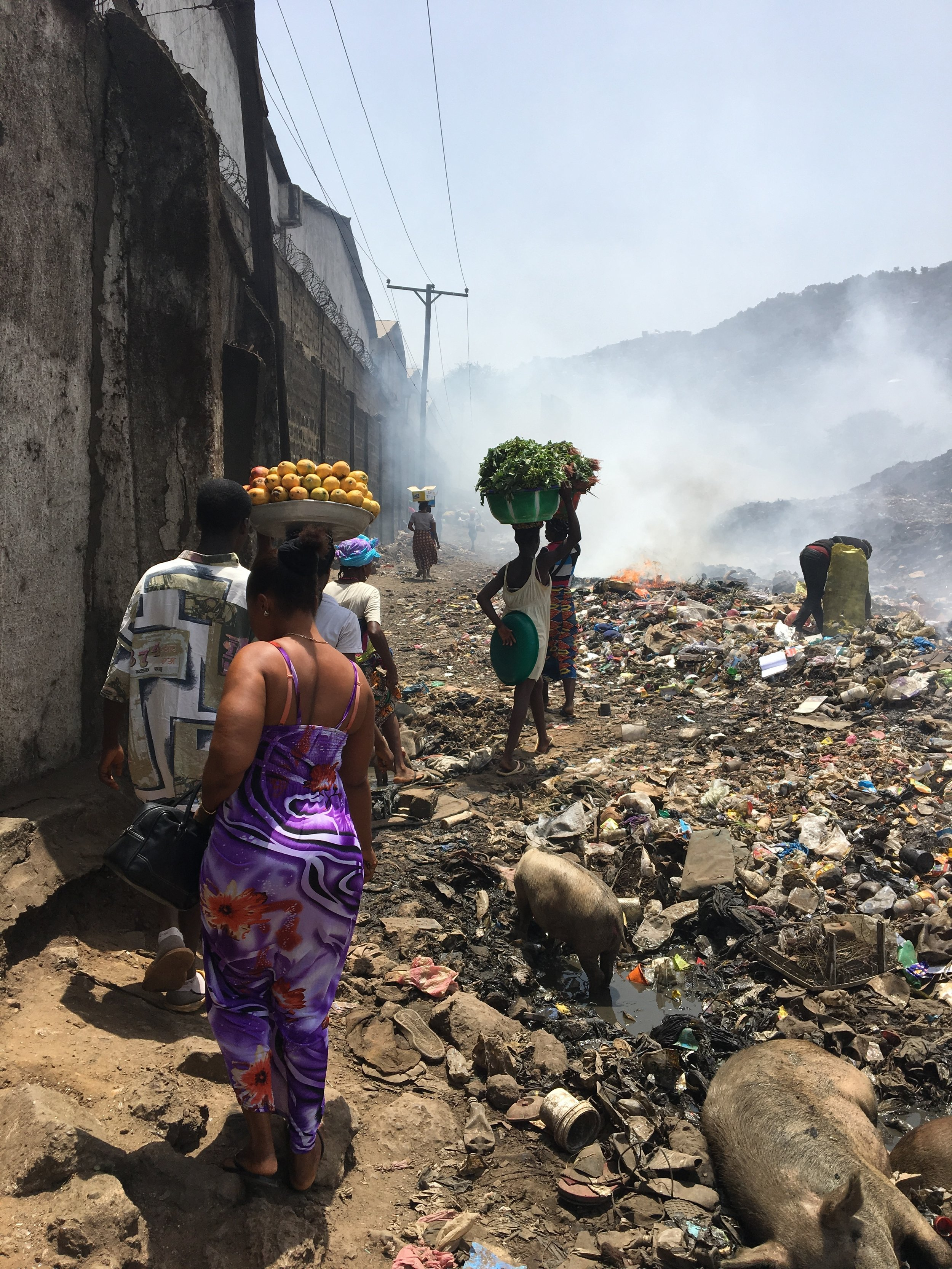 Kissi community is located next to one of the largest dumping sites in Freetown.